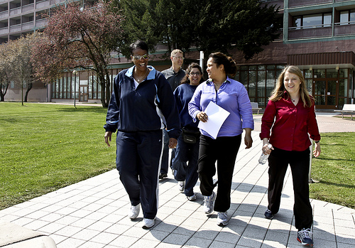 Healthy Employees Walking Together