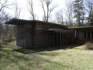 Pope Leighey House - 1940 - an example of the Usonian architectural style of Frank Lloyd Wright