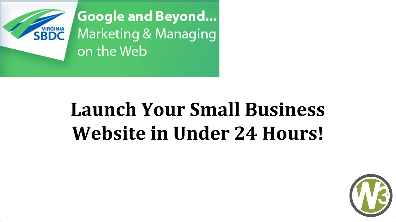 Launch Your Small Business Website in Under 24 Hours!